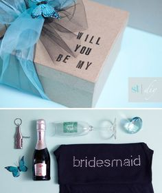 DIY | will you be my bridesmaid? » Something Turquoise {daily bridal inspiration} #present #box
