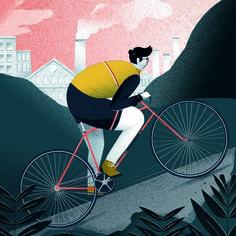Inspiring Sport Illustrations by Michael Driver
