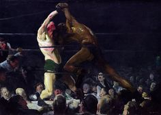 George Bellows. 'Both Members of This Club' 1909 #george #paint #art #bellows