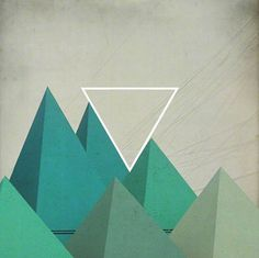 Tanya Johnston Illustration + Design #abstract #geometric #textured #triangles