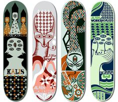Alien Workshop Skateboards on Behance #alien #workshop