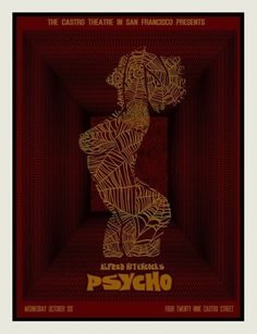 psycho-red.jpg (JPEG Image, 768x998 pixels) #theatre #psycho #hitchcock #poster #film #castro