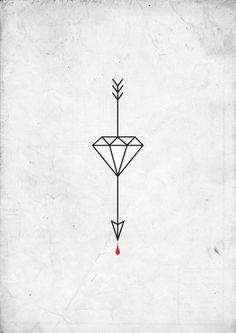 arrow tattoo #diamond #arrow