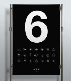SIX // Symbols & Shapes on Behance #swiss #design #shapes #geometric #clean #symbols #mono #number #poster