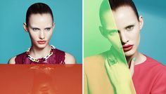 Emily Baker in the shooting of Color Blocking #color #treatment