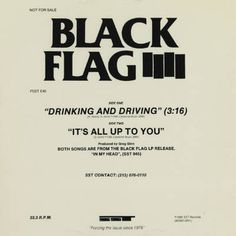 Black Flag logo by Raymond Pettibon. #music #fuck #poster #you