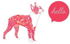 http://baileysullivan.com/bostonterrier #boston #illustrator #hello #triangles #terrier #dog