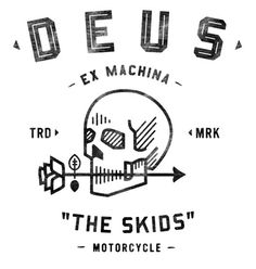 Neighborhood Studio DEUS EX MACHINA #illustration #skull