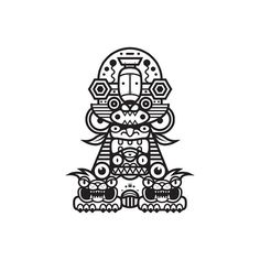Black & white totem series. http://society6.com/MuratSunger #illustration #print