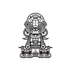 Black & white totem series. http://society6.com/MuratSunger