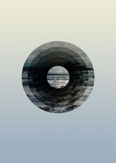 Astral Sea #ocean #sky #sydney #design #graphic #round #wave #earth #sea #minimal #gradient #blue