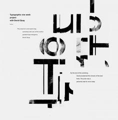 Typographic workshop with David Quay
