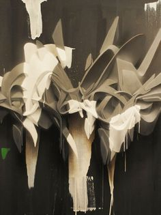 Splashes and stains on the Behance Network #ead #graffiti #splashes #paint #rwk #spraypaint #art #canvas #splash #peeta