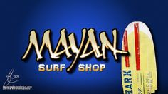 All sizes | Mayan Surf Shop | Flickr - Photo Sharing! #calligraphy #mayan #type #letterhead #typography