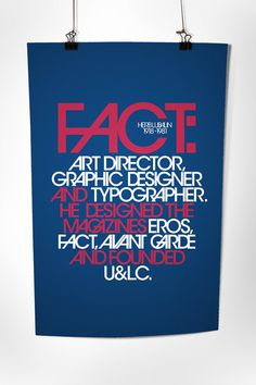 Herb Lubalin Poster on Behance