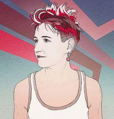Dorota Nieznalska for Przekroj on the Behance Network #retro #hair #illustration #portrait #drawing #illust