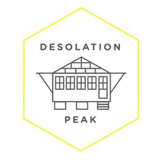 Desolation Peak #badge #line #desolation #peak #jack #kerouac #drawing