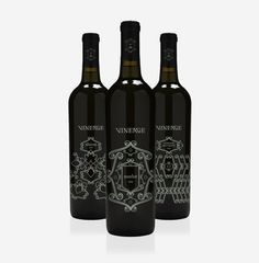 Vineage Wine Bottles #packaging #illustration #wine #weme