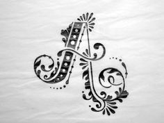 Dribbble - A by Faheema Patel #a #flourishes #letter #sketch #typography