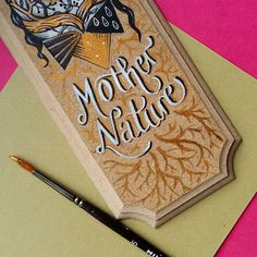 Work in progress | Magic Suitcase #mother #nature #trees #lettering #type #gold #painting