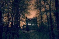TheoGosselin23 #house #gloom #dusk #photo #evening #window #forest #light
