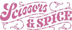 Scissors and Spice: Scissors Craft: The New Scissors and Spice Logo by Ken Barber #barber #lettering #house