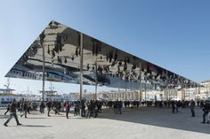 Vieux Port pavilion by Foster + Partners #mirror #architecture