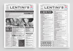 Lentini's Identity by Curve Studio #torino #curve #menu #restaurant #brand #identity #studio #pizza