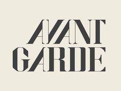 AVANT GARDE #fonts #lettering #serif #memex #lai #type #christy #typography