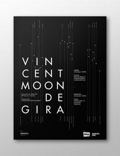 Vincent Moon de Gira on Behance #naranjo—etxeberria #diego #spain #blanco #negro #white #de #black #etxeberria #naranjo #poster #vincent #miguel #naranjoetxeberria #gira #moon