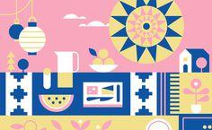 EHD, eight hour day, minneapolis, facebook, design, illustration, shape, geometric