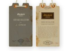 Dribbble - Dickies Tags D by Dustin Wallace #design #texture #illustration #vintage #tags #logo