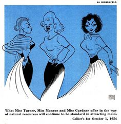 Today's Inspiration #hirschfeld #blue #illustration #al