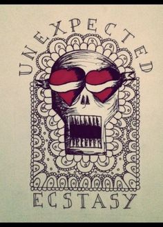 VINCENT #illustration #heart #skull