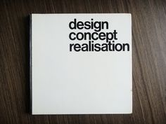 Toutes les tailles | Design Concept Realisation | Flickr: partage de photos! #cover #print #book #typography