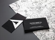 Platige Image Rebranding #branding #black #triangles #dark #grey