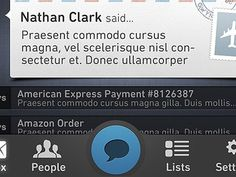 Dribbble - Communication iPhone App Toolbar by Jeremiah Shaw #app