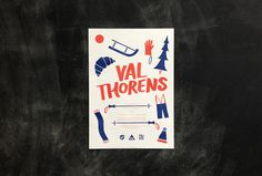 Val Thorens Ski Trip Poster #design #graphic #illustration #poster #typography