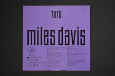 Hardformat » Miles Davis – Tutu #album #eiko #miles #davis #design #graphic #tutu #ishioka #cover