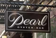 Typeverything.comPearl Oyster Bar identity by Louise Fili. #fili #oyster #script #lousie #pearl #typography