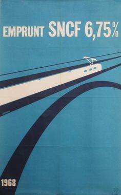 SNCF Emprunt 1968 poster by Decroix J. #poster