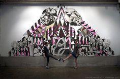 New Murals by Maya Hayuk | Hi-Fructose Magazine #mural #maya #hayuk #art #street