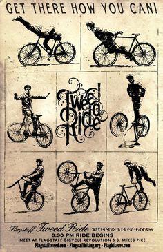 Tweed Ride #poster #bicycle