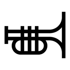 See more icon inspiration related to trumpet, music and multimedia, wind instrument, musical instrument, entertainment, electronics, orchestra, instrument, musical and music on Flaticon.