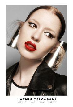 Jazmin Calcarami - makeup on Behance #fashion #design #makeup #branding