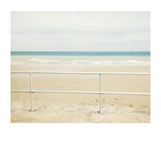 Railings, sea, sky, beach, sand, pastel, rothko, surf, horizon, waves, landscape, tranquil #tranquil #surf #sky #railings #landscape #rothko #sea #sand #horizon #beach #waves #pastel