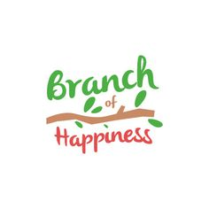 Branch of Happiness on Behance #logo #design #plant #typography