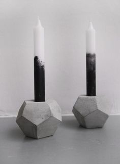 concrete dodecahedron candleholder by frauklarer