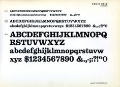 Daily Type Specimen | Egizio Bold, designed in 1955 by Aldo Novarese for... #type #specimen #typography