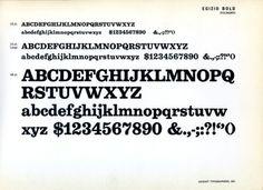 Daily Type Specimen | Egizio Bold, designed in 1955 by Aldo Novarese for... #type #specimen #typography